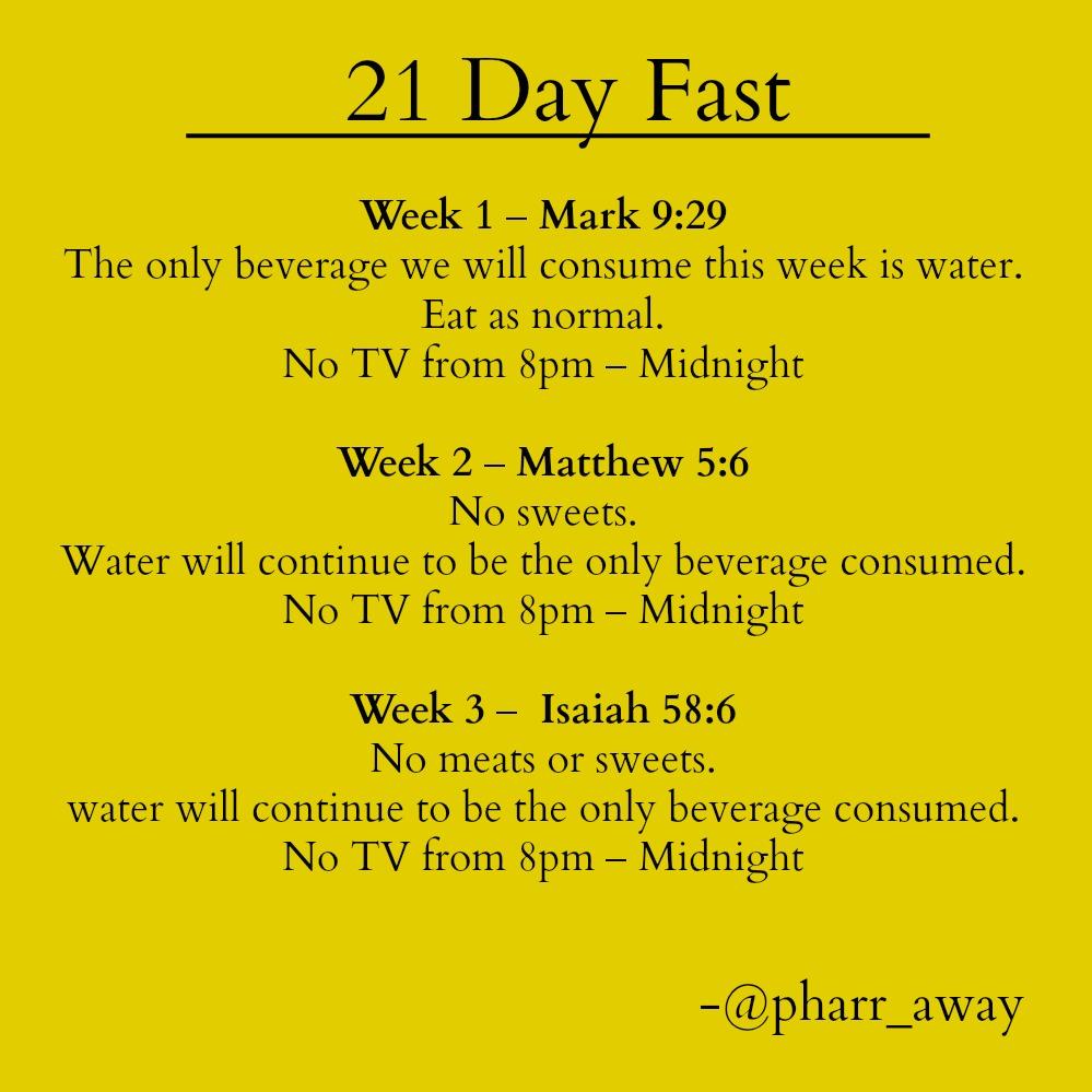 21 Day Fast – Pharr Away